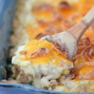 Chicken Pot Pie With Cheesy Mashed Potatoes