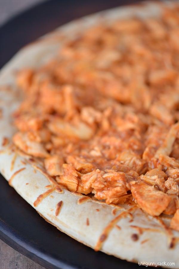 Taco Chicken On Pizza Crust