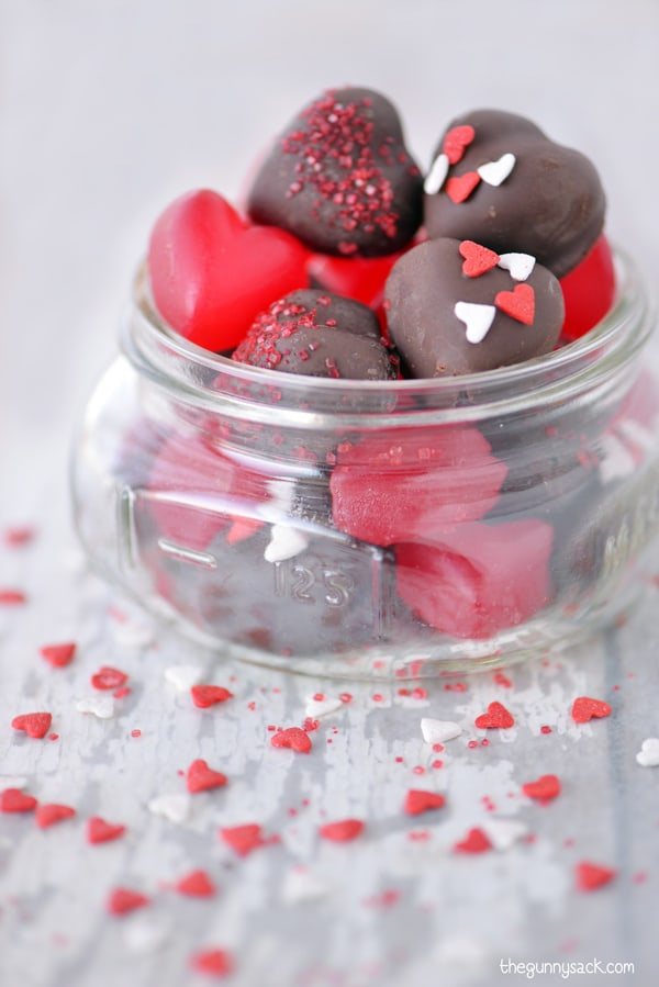 Chocolate Cherry JuJu Hearts