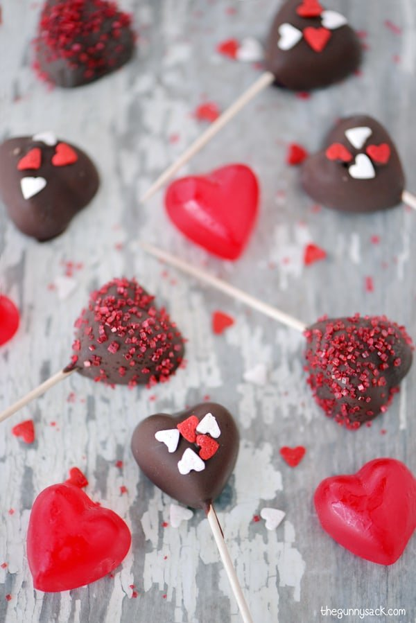 Chocolate Dipped Hearts