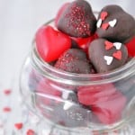Jelly Hearts Covered With Chocolate