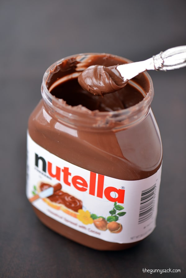 Nutella jar with spoon