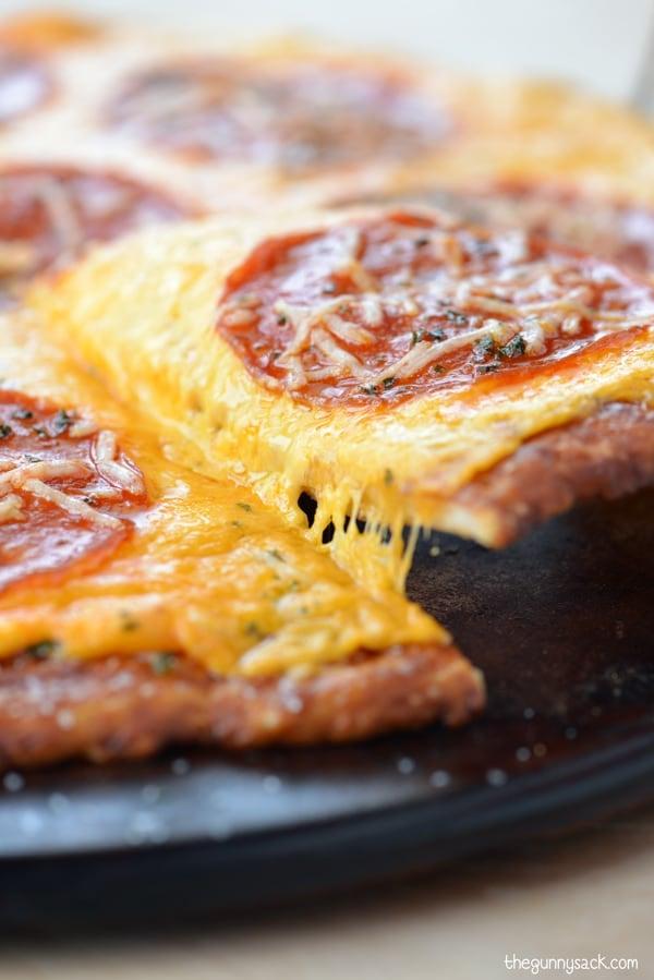 Pepperoni Pretzel Crust Pizza