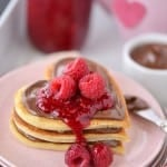 Raspberry Chocolate Pancakes