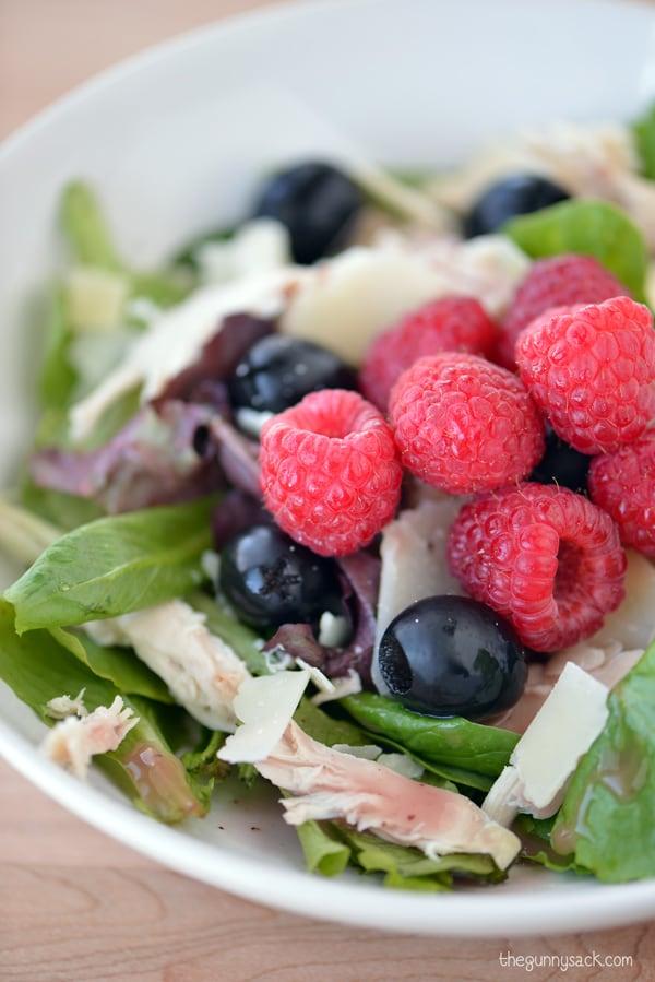 Raspberry Parmesan Chicken Salad - The Gunny Sack