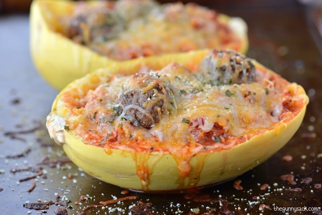 Recipe for spaghetti squash with meatballs for What to make with spaghetti squash