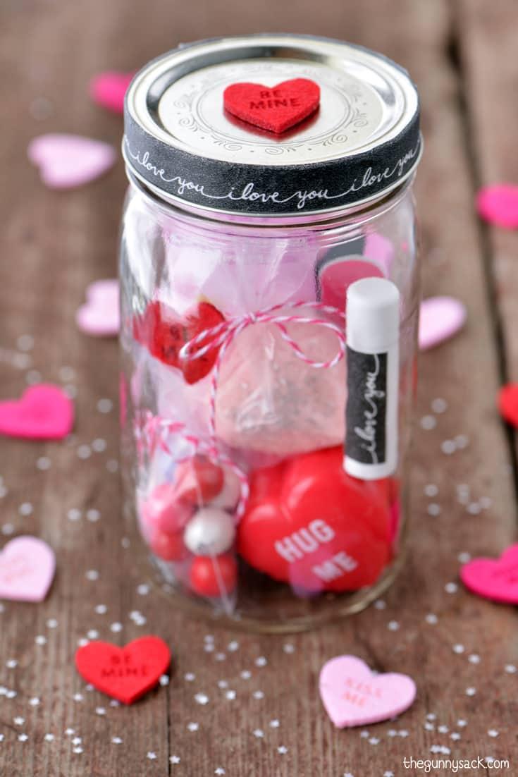 Valentine S Day Mason Jar The Gunny Sack