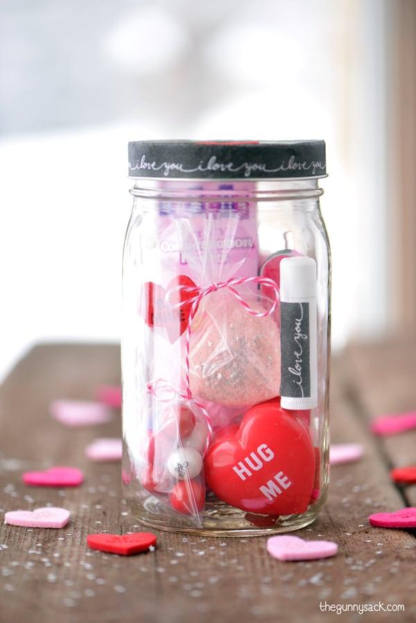Valentine's Day Mason Jar Gift