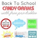 Back To School Candy Grams