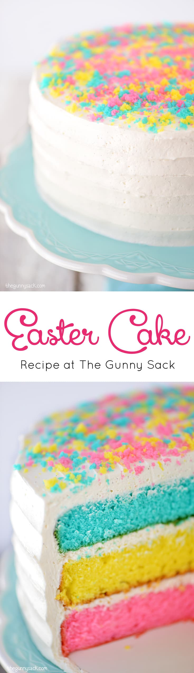 Easter Cake collage for Pinterest