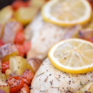 Oven Roasted Lemon Garlic Chicken with Vegetables