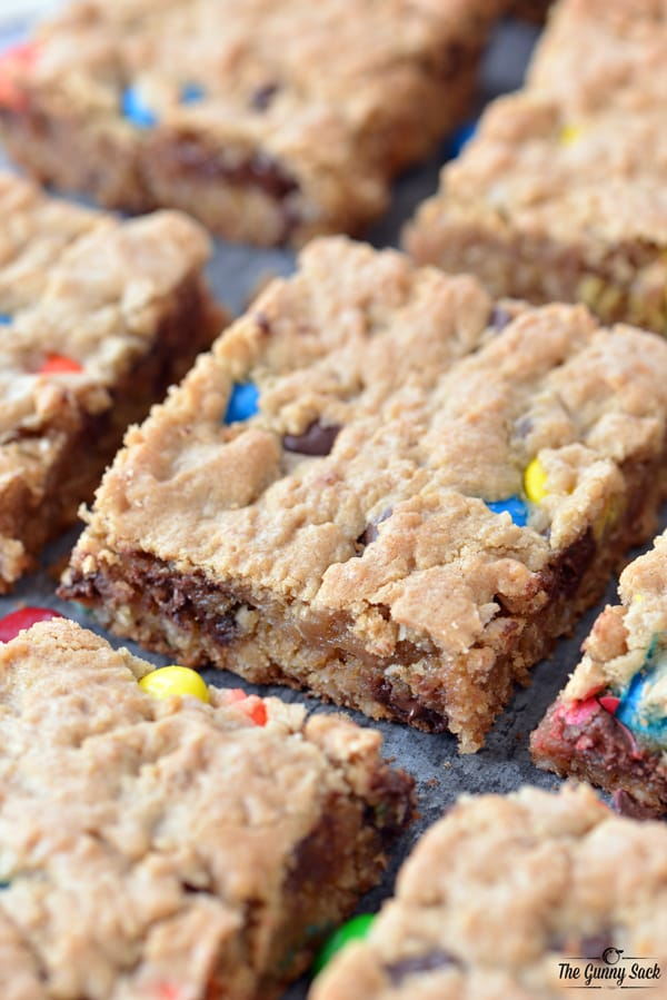 Monster Cookie Bars Slices