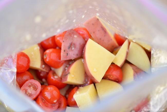 Chopped Vegetables In Bag