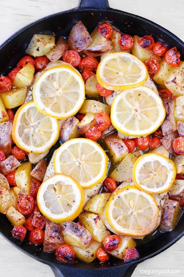 Skillet Lemon Garlic Chicken