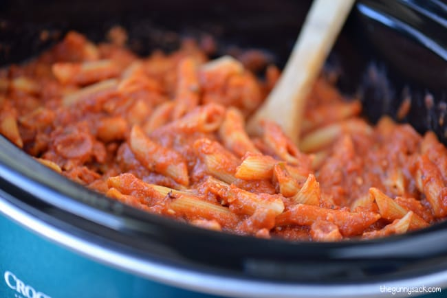 ziti in slow cooker