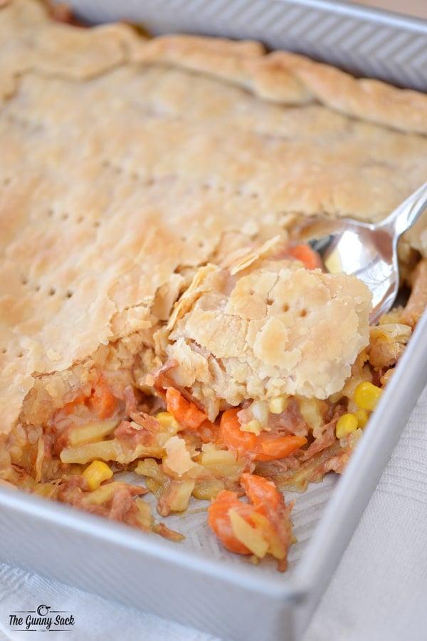Cheesy Ham Pot Pie