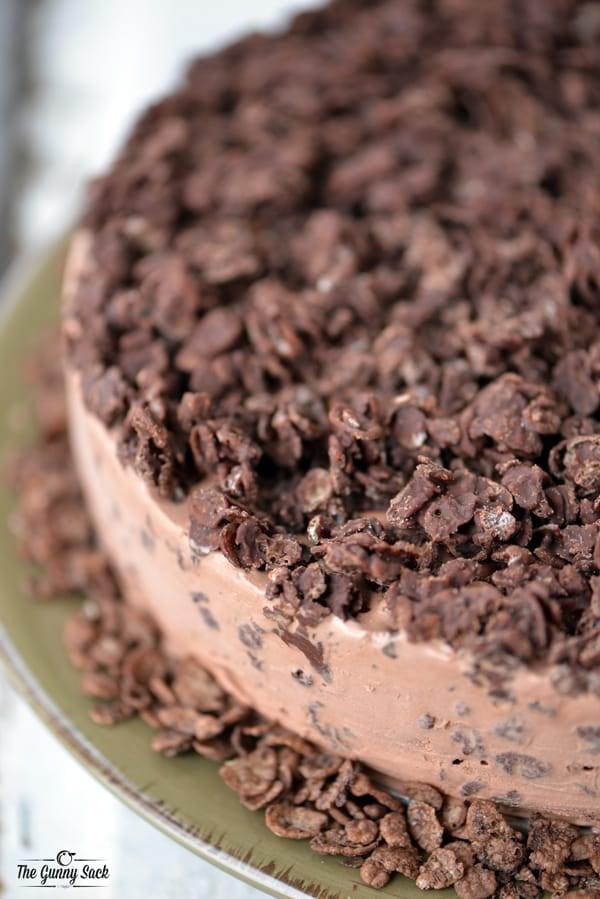 Cocoa Pebbles Ice Cream Cake