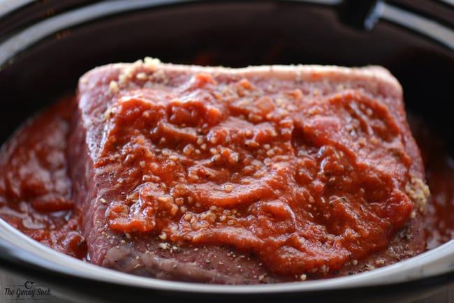 tomato sauce on roast