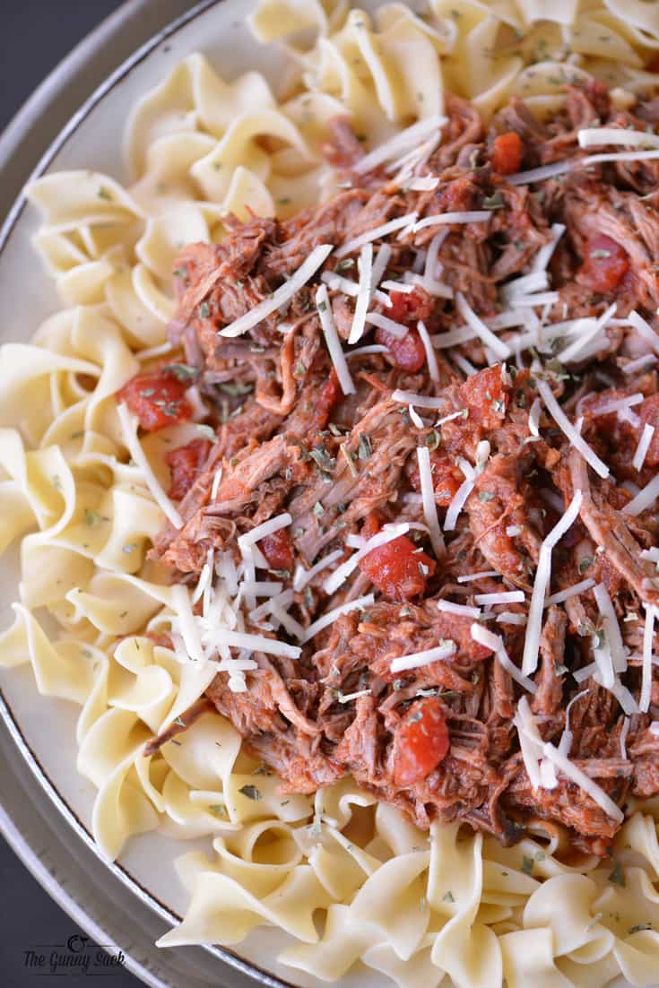 Slow Cooker Italian Pot Roast - The Gunny Sack