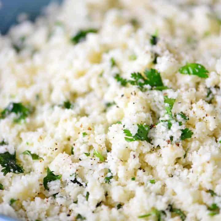 Cilantro Lime Cauliflower Rice Recipe | thegunnysack.com