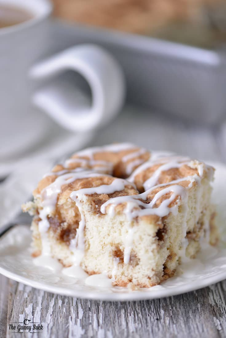 Serving A Coffee Cake At A Brunch