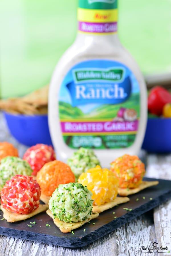 Garlic Ranch Cheeseball Bites | thegunnysack.com