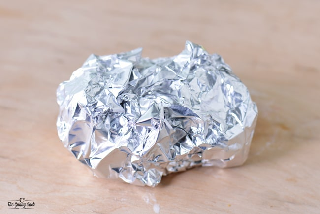 potato wrapped in foil