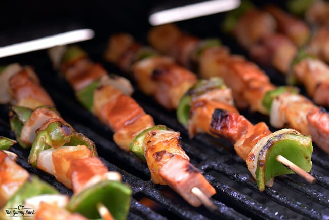 Hawaiian Kabobs on Grill