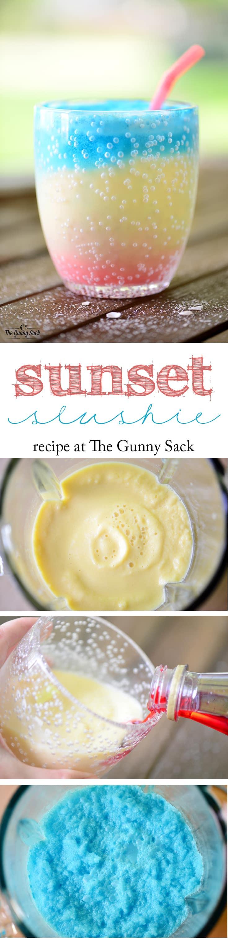Sunset Slushie Recipe | thegunnysack.com