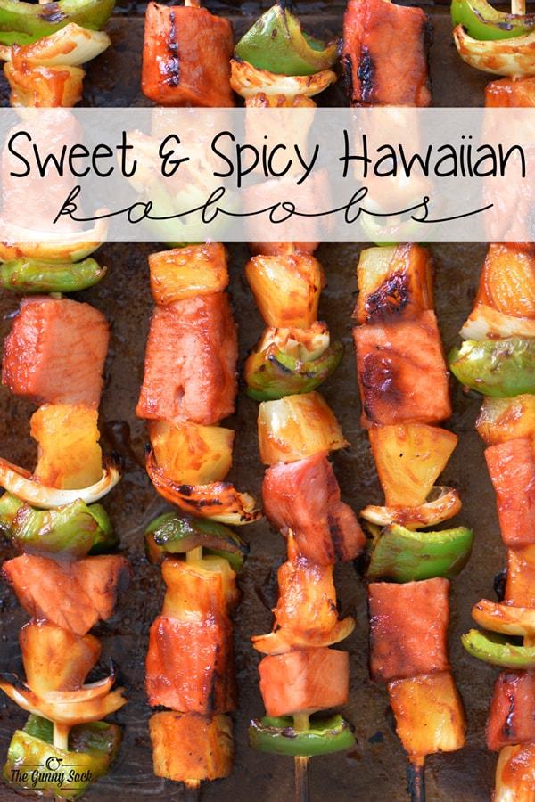 Sweet and Spicy Hawaiian Kabobs
