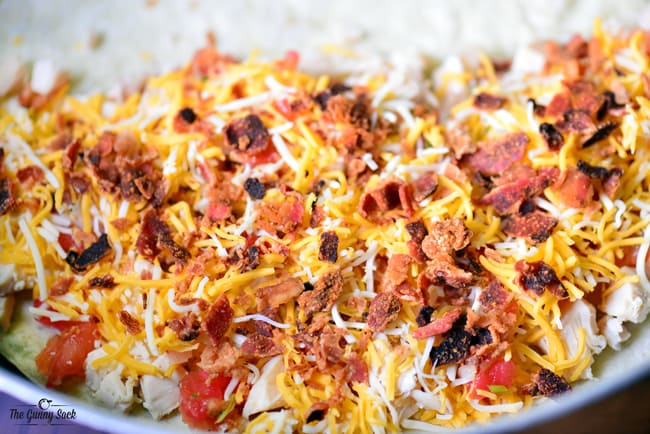 add cheese and bacon