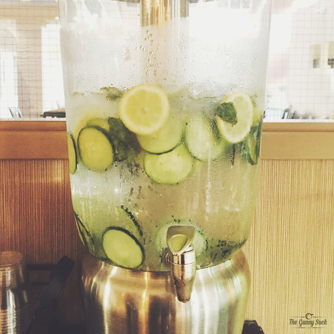 Cucumber Lemon Mint Water | thegunnysack.com