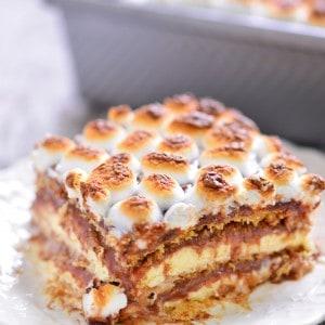 S'mores Eclair Cake Recipe   thegunnysack.com