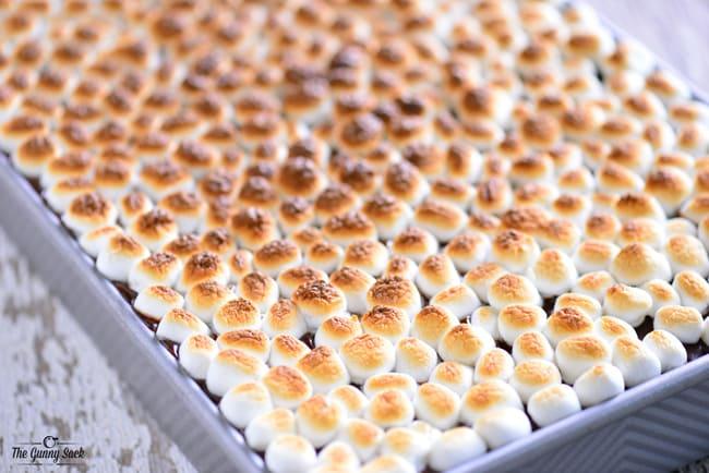 Toasted S'more Eclair Cake | thegunnysack.com