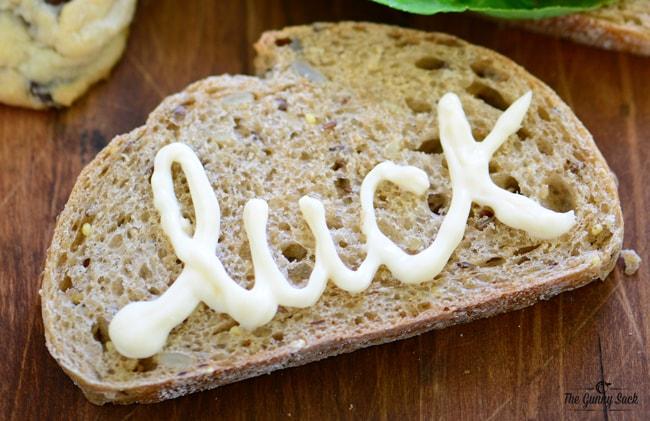 luck written on bread