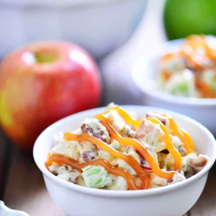 Caramel Apple Pretzel Salad Recipe | thegunnysack.com