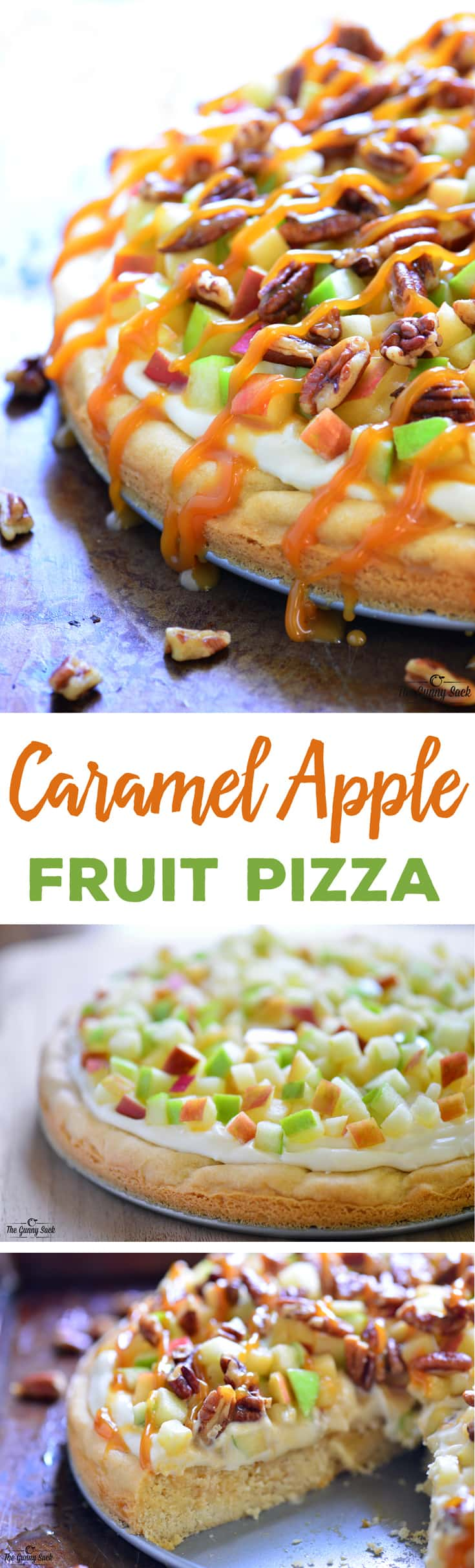 Caramel Apple Fruit Pizza Fall Dessert Recipe