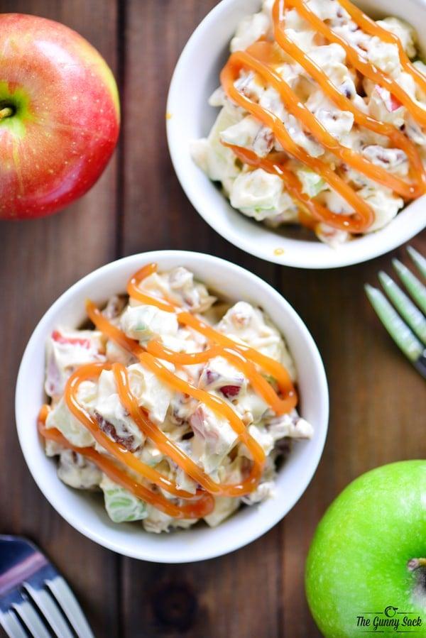 Caramel Apple Pretzel Salad Recipe | thegunnysack.com