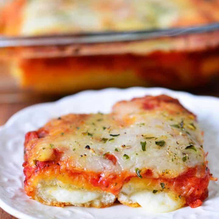 Cheesy Breadstick Pizza Recipe   thegunnysack.com