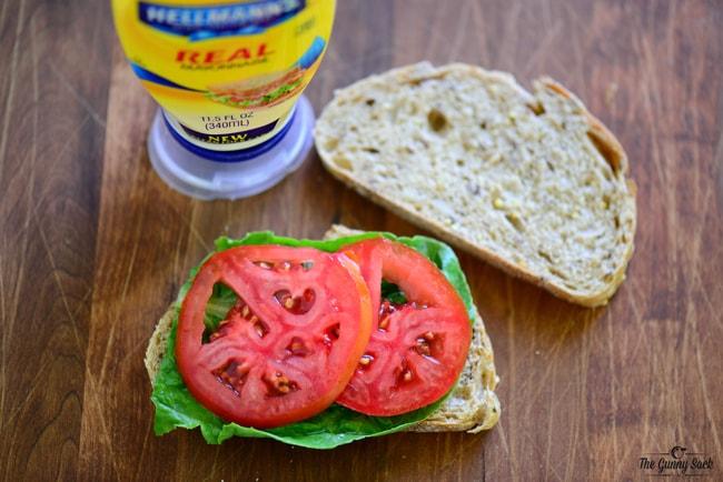 Tomato Egg Salad Sanwich