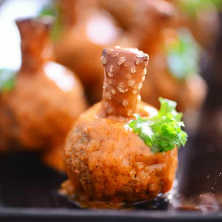 Buffalo Meatball Pumpkins Recipe