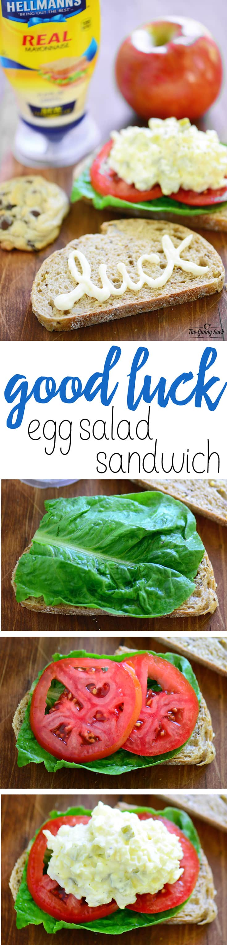 "Wish a loved one ""Good Luck"" with an Egg Salad Sandwich"