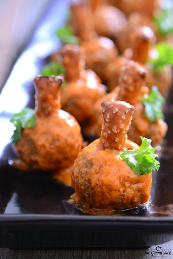 Pumpkin Buffalo Meatballs