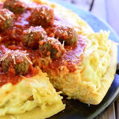 Spaghetti and Meatballs Pizza Recipe