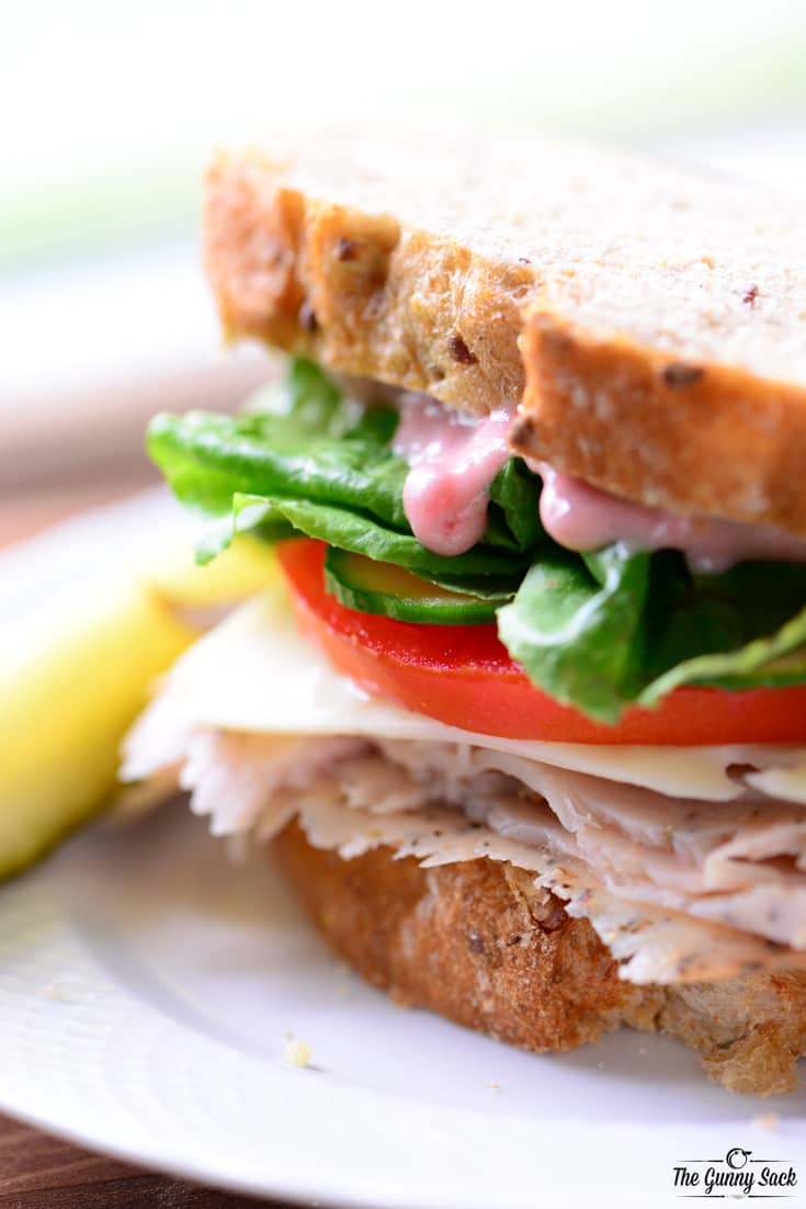 Turkey Cranberry Sandwich - The Gunny Sack