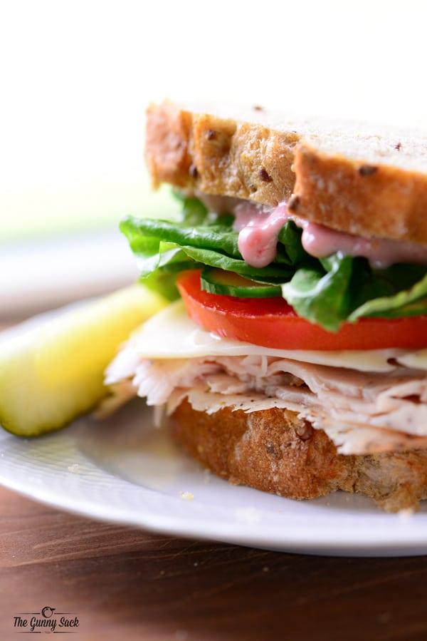 Turkey Cranberry Mayo Sandwich