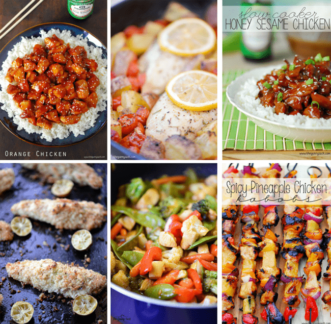 chicken recipes collage