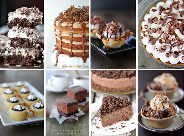 chocolate recipes collage