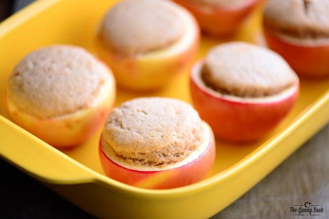 Cupcake Stuffed Baked Apples