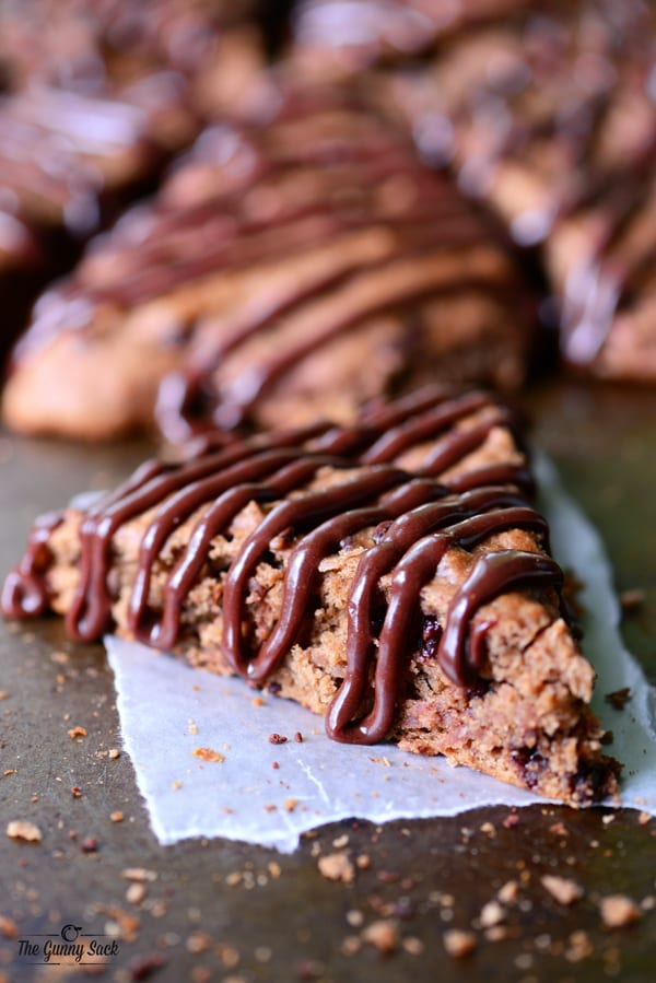 Double Chocolate Banana Scones